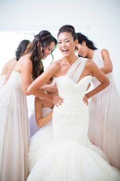 We love this California bride: http://www.stylemepretty.com/2014/09/26/understated-elegance-at-malibus-saddlerock-ranch/   Photography: Nancy Neil - http://lovenancyneil.com/