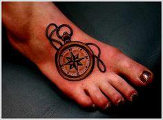 Amazing Compass Tattoo Designs |Tattoo Ideas