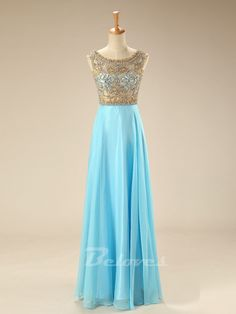 Prom Dress, Gold Dress, Blue Dress, Light Blue Dress, Sheer Dress, Chiffon Dress, Gold Prom Dress, Blue Prom Dress, Beaded Dress, Dress Prom, Light Blue Prom Dress, Blue Chiffon Dress, Dress Blue, Gold Beaded Dress, Bodice Dress