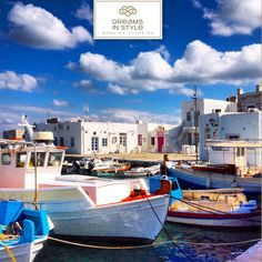 Traditional Greek wooden boats in Naoussa.  #paros #greece #naoussa #boat #traditional #greekislands #islands #weddingplanner #dreamsinstyle #summer