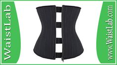 YIANNA Women's Zipper&Hook Hourglass Latex Waist Training Corset Body Shaper Review ~ WaistLab