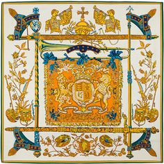 6058acf096abd 2018 Luxury Brand Big Twill Silk Scarf Woman Spain Print Royal Anthem Neck  Wraps Echarpe Square