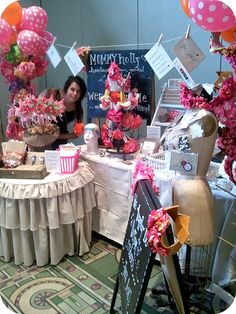 Totally adorable little booth set up. Love the ballon's too!
