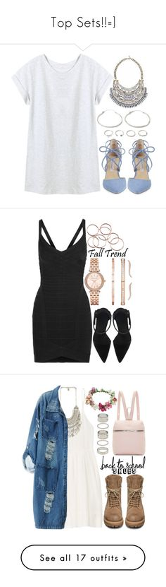 """""""Top Sets!!=]"""" by adc421 ❤ liked on Polyvore featuring Kristin Cavallari, Forever 21, Michael Kors, Hervé Léger, Shashi, rosegold, TNA, Rick Owens, Chicnova Fashion and Topshop"""