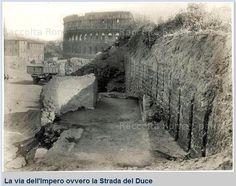 Foto storiche di Roma - Via dei Fori Imperiali, sterro del Velia  Anno: 1928