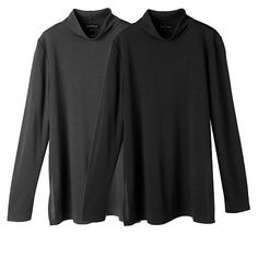 Slinky® Brand 2pk Long-Sleeve Turtleneck Sweater Tunics - Rich Spice/Brown
