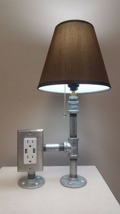 Check out this cool steel pipe desk lamp @istandarddesign