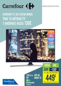 Carrefour renove del 25 de octubre al 21 de noviembre -  Ofertas y descuentos válidos del25 de octubre al 21 de noviembre Lleva a supermerados carrefour tu viejo televisor viejo y consigue un descuento por comprar uno nuevo -20€ televisión de tubo, -30€ si traes un tv de menos de 32 LCD, LED O PLASMA , 80€ si traes un TV de 32 pulgadas a 39″ LCD... #CatálogosCarrefour, #Catálogosonline   Ver en la web : https://ofertassupermercados.es/carrefour-renove-de