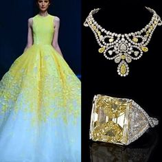 «Michael Cinco #fashion #highfashion #stylefashion #style #styles #pfw #mbfw #NYFW #jewelry #jewellery #diamonds #canary #necklace #ring #earring…»