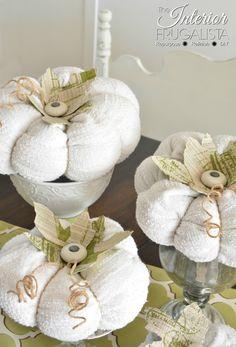 Sweater Pumpkins with knob stems