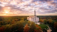 Boston, Massachussets - LDS Temple (Aerial) by Alan Fullmer