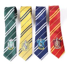 Get this Harry Potter Hogwarts House Crest Necktie and let the world know you're a Harry Potter fan! Perfect for any fandomer, wizard, or witch! Make a gift for yourself or your friend, everyone will