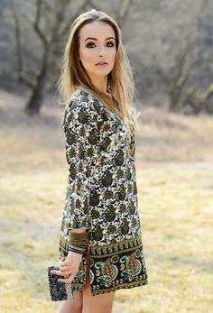 Tunika indyjska modna Paisley Boho r. 40