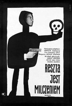 Vintage Polish movie poster 1960 by Wiktor Gorka : Reszta jest milczeniem
