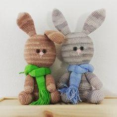 Gratis haakpatronen | hobbyshop-online.nl Let The Fun Begin, Easter Crochet, Bunny, Christmas Ornaments, Holiday Decor, Pattern, Blog, Crafts, March