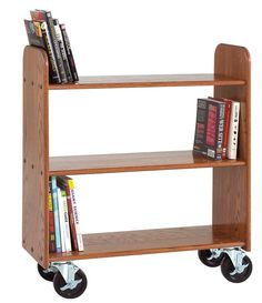 Solid Wood Book Truck... use anywhere mobile storage is needed!