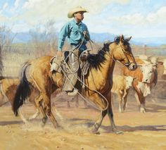 """Pickin' and Choosin'""  oil painting by Bruce Greene"