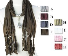fashion pendant scarf water-drop charms jewelry scarf winter