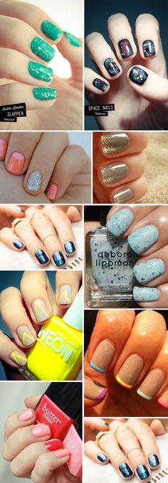 amazing nails variations  2nd from top on left: two tones with accent ring finger