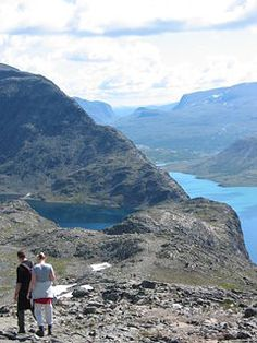 hiking in Besseggen Ridge, Jotunheimen National Park