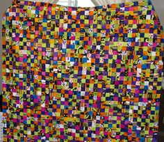 No. 10, Halloween Four-Patch Quilt, 1,600 Pieces by Studio Juju Quilts, via Flickr