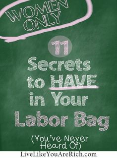 After reading over 15 different hospital packing lists I still didn't know about these '11 secrets to have in your labor bag'.