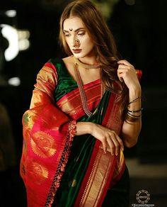 For Order Our Inquiry plz Contact What's app. South Indian Bride Saree, Indian Saris, Gota Patti Saree, Latest Silk Sarees, Bridal Hair Inspiration, Wedding Saree Collection, Indian Girl Bikini, Bridal Silk Saree, Trendy Sarees