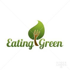 Logo for any business linked with healthy food, e.g. vegetarian restaurant, distributor of organic food or online blog with vegan recipes.  Keywords: food & Drinks, health, leaf, tree, organic, natural, food, fork, eco, vegetarian, nutrition