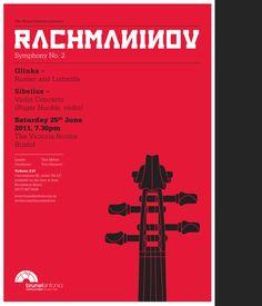 Brunel Sinfonia – Concert posters by Hyperkraft, via Behance
