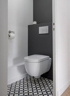 Observe the information renovation residence Lyon Lanoe Marion Company Small Toilet Room, Guest Toilet, Downstairs Toilet, Bathroom Layout, Bathroom Interior, Modern Bathroom, Small Bathroom, Bad Inspiration, Bathroom Inspiration