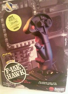 F-15E Hawk Tactical Control Stick Suncom Technologies Flight Simulator Joystick #Suncom
