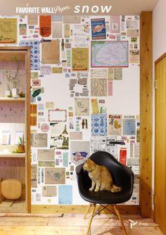 propelua弊社オリジナル壁紙『FAVORITE WALL』沢山のパッケージや封筒が散りばめられたデザインです。 あえて空かしたスペースにお気に入りのポストカードなんかを飾って完成させて下さい😊ドライフラワーなんかも素敵ですね💐 http://propelua.thebase.in/ #vintage #ビンテージ  #interior #インテリア  #wallpaper #壁紙  #digitalprint #デジタルプリント壁紙  #favorite #お気に入り  #blackboard #黒板  #自由 #propelua