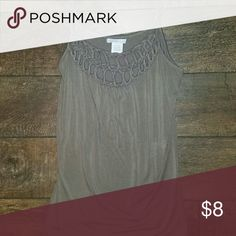 Tank top Soft, flowing, tan tank top with cutout details Charlotte Russe Tops Tank Tops