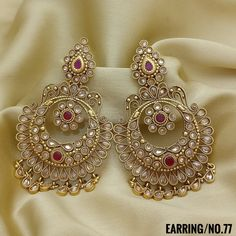 Rama Creations Manufacturer & Wholesalers of Designer Antique Jewellery in India. Gold Jhumka Earrings, Indian Jewelry Earrings, Indian Jewelry Sets, India Jewelry, Bridal Jewelry, Gold Jewelry, Women Jewelry, Hoop Earrings, Gold Necklaces