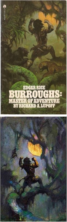 FRANK FRAZETTA - Edgar Rice Burroughs: Master of Adventure by Richard A. Lupoff - 1975 Ace Books - cover by isfdb - print by swordsofreh.proboards.com