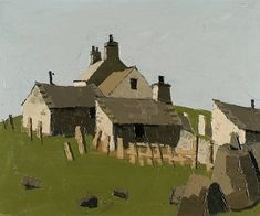 Sir Kyffin Williams - Anglesey Farm Cottage on MutualArt.com