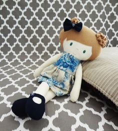 Original Handmade 17 Girl Cloth Doll Girl Rag by SewGoodToBeYoung