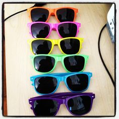 Colorful Ray bans...a necessary accessory to all of my outfits.