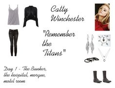 """""""Catty Winchester Worlds Colliding (Supernatural) 8.16 """"Remember the Titans"""""""" by mysticfalls1997 ❤ liked on Polyvore featuring moda, Wallis, ISABEL BENENATO, Madden Girl, Witchery, Sam Edelman, White House Black Market y Erickson Beamon"""