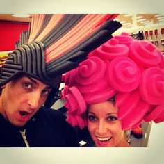 Fooling around with some foam wigs! Some nice choices available at Home Depot.