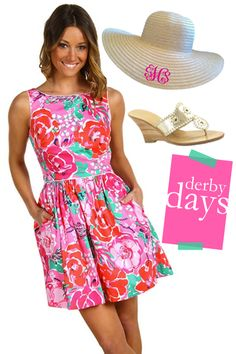 Derby days in Lilly Pulitzer Derby Outfits, Preppy Outfits, Preppy Style, Cute Outfits, Sweet Style, Style Me, Lilly Pulitzer, Preppy Southern, Southern Belle