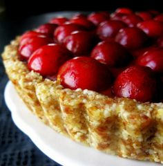 Raw Cherry Tart!  With the price of organic cherries this week, this is gonna happen!