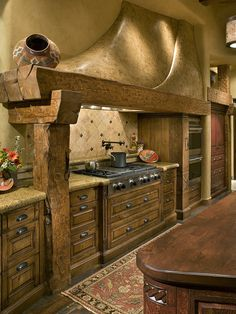 How to Do Rustic Home Decor With Wooden Furniture? – Rustic Home Decor Rustic Kitchen, Country Kitchen, Beautiful Kitchens, Cool Kitchens, Southwestern Decorating, Traditional Kitchen, Rustic Interiors, Interior Design Kitchen, Rustic Decor
