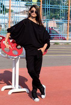 Set / Black sweatpants / Black sports set / Extravagant