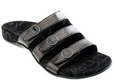 Orthaheel Ashley Women US 7 Black Slides Sandal *** Check this awesome product by going to the link at the image.