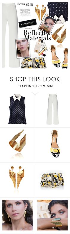 """Pattern Mixing"" by blingsense ❤ liked on Polyvore featuring Salvatore Ferragamo, Vera Bradley and Magdalena"