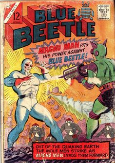 Blue Beetle 52 (Charlton) - Comic Book Plus Comic Book Plus, Comic Book Covers, Comic Books, Dc Comics, Charlton Comics, Alternative Comics, Pulp Fiction Book, Blue Beetle, Silver Age Comics