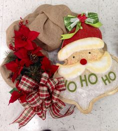 Burlap Christmas wreaths!! 2015   Laura A. Tulsa Michaels (3864)