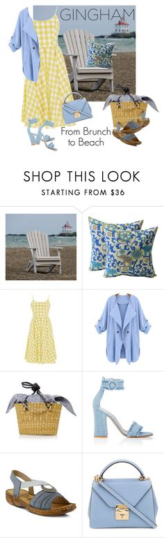 """From Brunch to Beach"" by jpo-renonv ❤ liked on Polyvore featuring DutchCrafters, WithChic, Muuñ, Gianvito Rossi, Spring Step and Mark Cross"