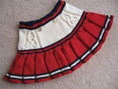 Детская юбка спицами. Юбка для девочки спицами с описанием